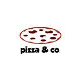 Pizza Logo Vector Immagine Stock