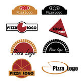 Pizza logos stock illustration