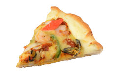 Pizza lokalisiert auf weißem Hintergrund Lizenzfreie Stockfotografie