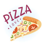 Pizza love Stock Photos