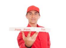 Pizza mężczyzna obrazy royalty free