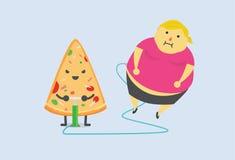 Pizza machte Sie fettes schnelles Lizenzfreie Stockfotos