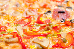 Pizza, macro Royalty Free Stock Images