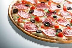 Pizza. macro Fotografia Stock