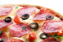 Pizza. macro Immagini Stock Libere da Diritti