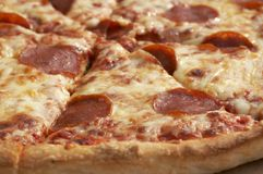 Pizza macro Royalty Free Stock Photo