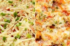 Pizza macro shot Royalty Free Stock Image