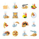Pizza maker icon set Stock Images