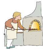 Pizza maker Royalty Free Stock Images
