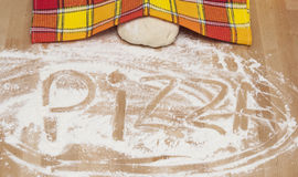 Pizza making Stock Photography
