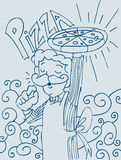 Pizza Man Royalty Free Stock Photo