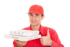 Pizza man Royalty Free Stock Photos