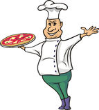 Pizza man - cook Royalty Free Stock Image