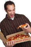 Pizza Man Smiling Royalty Free Stock Images