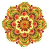 Pizza Mandala Stock Image