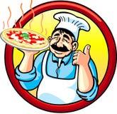 Pizza-Mann Lizenzfreie Stockbilder