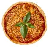 Pizza Margarita Royalty-vrije Stock Afbeeldingen
