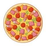 Pizza margarita icon, cartoon style. Pizza margarita icon. Cartoon of pizza margarita vector icon for web design isolated on white background stock illustration