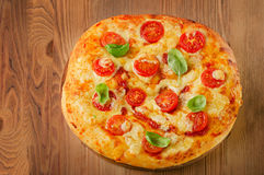 Pizza margarita Royalty Free Stock Photography