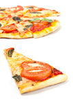Pizza margharita slice Royalty Free Stock Photos