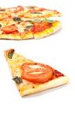 Pizza margharita slice Royalty Free Stock Photos