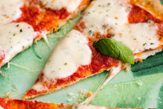 Pizza Margherita Stock Foto's