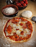 Pizza Margherita. Traditional italian food Royalty Free Stock Image