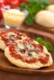 Pizza Margherita Imagem de Stock Royalty Free
