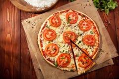 Pizza Margherita Imagens de Stock