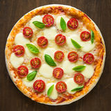 Pizza Margherita Stockfotografie