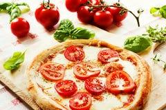 Pizza Margherita Stockfotos