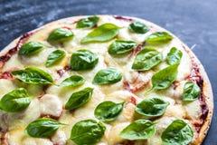 Pizza Margherita Fotografia Stock