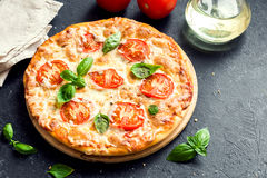 Pizza Margherita Obrazy Royalty Free