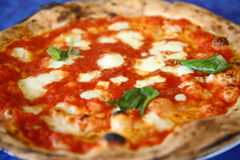 Pizza margherita Stock Images