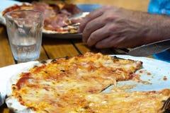 Pizza margherita royalty free stock photos