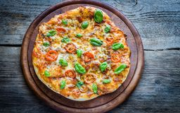 Pizza Margherita homemade Royalty Free Stock Image