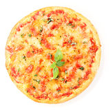 Pizza Margherita isolated on white Stock Photo
