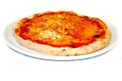 Pizza margherita mozzarela vermehrt sich italienische Lebensmittelpizza, Schinken Oliven explosionsartig stockfoto