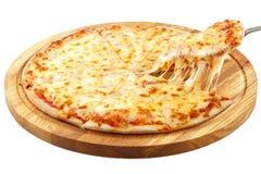 Pizza Margherita, mozzarella Obraz Royalty Free
