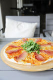 Pizza margherita with parma ham and rocket Royalty Free Stock Photos