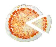 Pizza margherita slice. Pizza Margherita - traditional Italian food from Italy royalty free stock photography