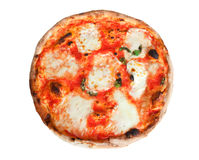 Pizza Margherita with slices of mozzarella Stock Photo
