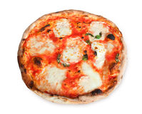 Pizza Margherita z plasterkami mozzarella Obrazy Royalty Free