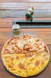 Pizza Meat Lover and cheese Stock Photos