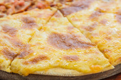 Pizza Meat Lover and cheese Stock Image