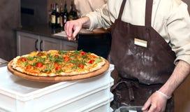 Pizza meister stockbilder