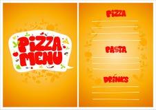 Pizza menu. Royalty Free Stock Photo