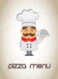 Pizza menu stock illustration