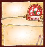 Pizza menu Obraz Royalty Free