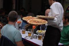Pizza menu Fotografia Royalty Free